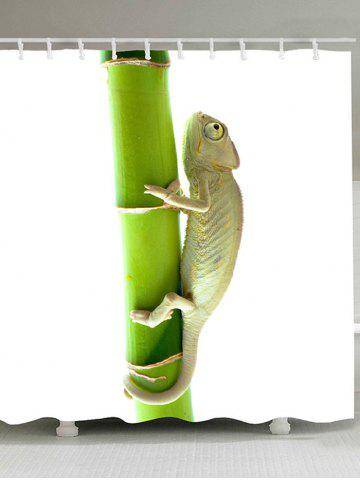 Outfit Chameleon Climbing the Tree Printed Shower Curtain