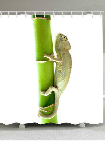 Store Chameleon Climbing the Tree Printed Shower Curtain