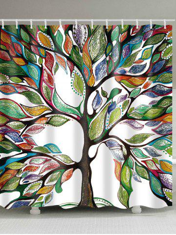 Buy Waterproof Colorful Tree Printed Shower Curtain