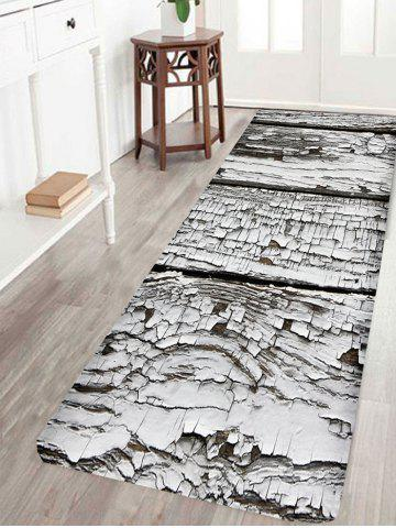 Hot Rotten Wooden Print Water Absorption Area Rug