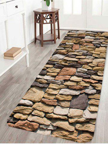Outfit Gravel Stones Print Water Absorption Area Rug