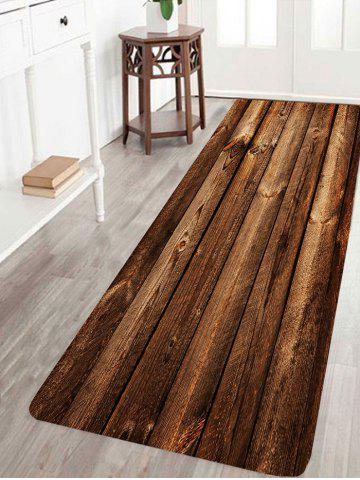 Chic Water Absorption Vintage Wood Print Area Rug