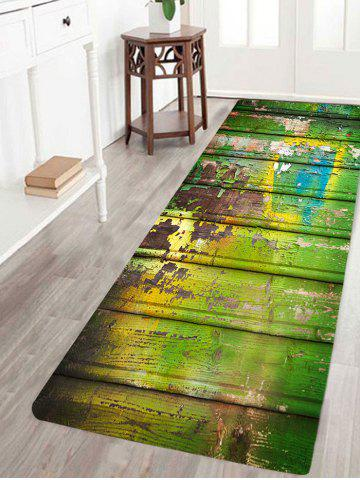 Hot Oil Paint Plank Printed Skidproof Rug