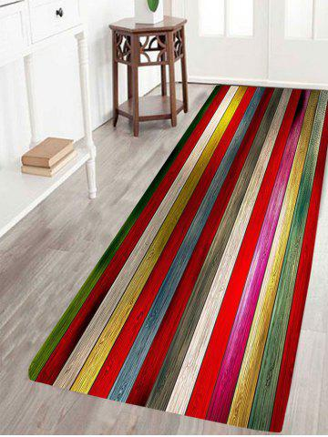 Trendy Colorful Laths Printed Skidproof Rug