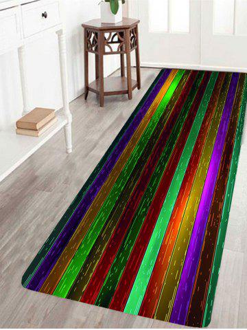 Affordable Colorful Wood Grain Print Water Absorption Area Rug