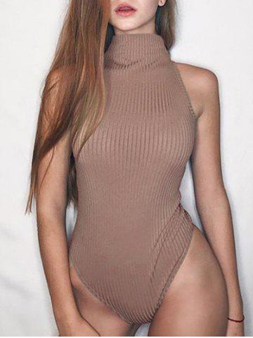New Mock Neck Ribbed Bodysuit