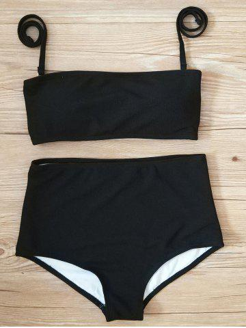 New High Waisted Ribbed Bikini Set