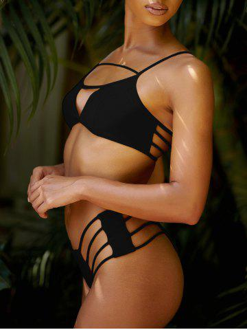 Online Cut Out String Bikini Set