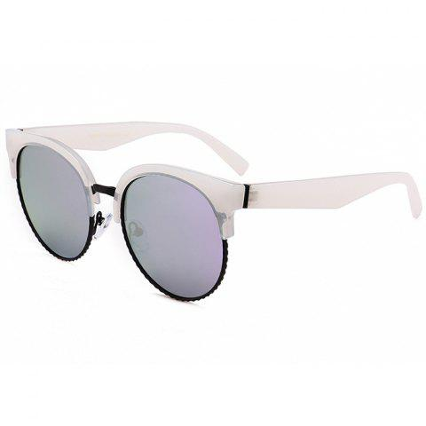 Discount Unique Half Frame Cat Eye Round Sunglasses