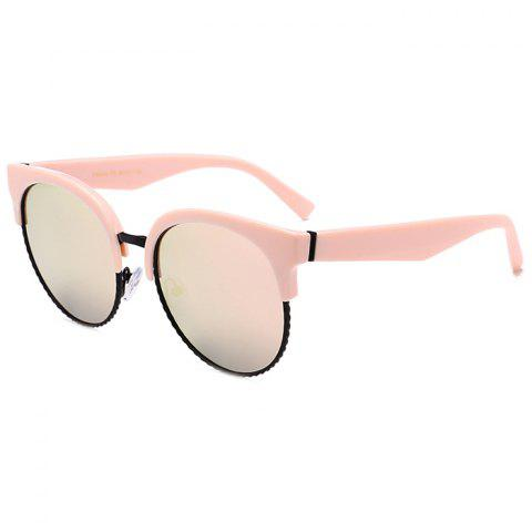 Store Unique Half Frame Cat Eye Round Sunglasses