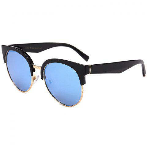 Sale Unique Half Frame Cat Eye Round Sunglasses