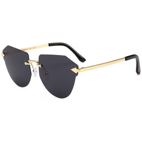 Online Vintage Arrow Decorated Irregular Rimless Sunglasses