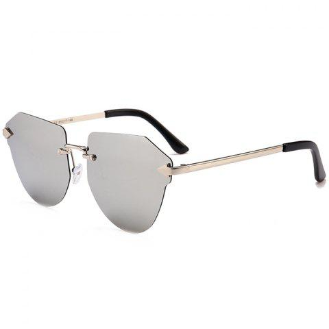 Fancy Vintage Arrow Decorated Irregular Rimless Sunglasses