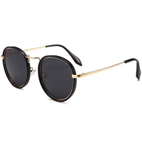 Hot Anti-fatigue Metal Full Frame Round Sunglasses