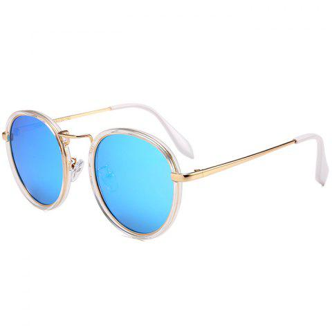 Fashion Anti-fatigue Metal Full Frame Round Sunglasses