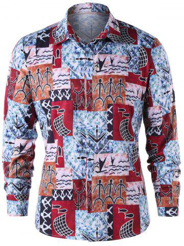 Trendy Ethnic Print Shirt