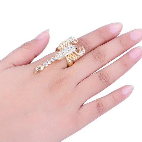 Chic Rhinestone Inlaid Alloy Scorpion Decorated Ring
