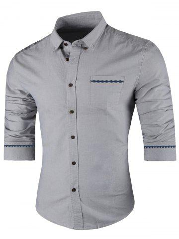 Shop Contrast Trim Button Down Shirt