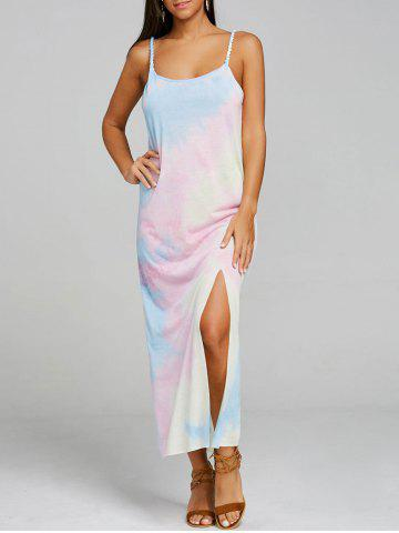 Chic Print Slit Spaghetti Strap Maxi Dress