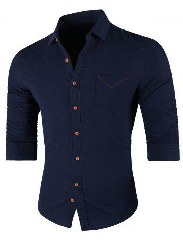 Outfit Chest Pocket Long Sleeve Casual Shirt