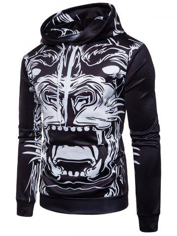 Fashion Beast Animal Print Pullover Hoodie