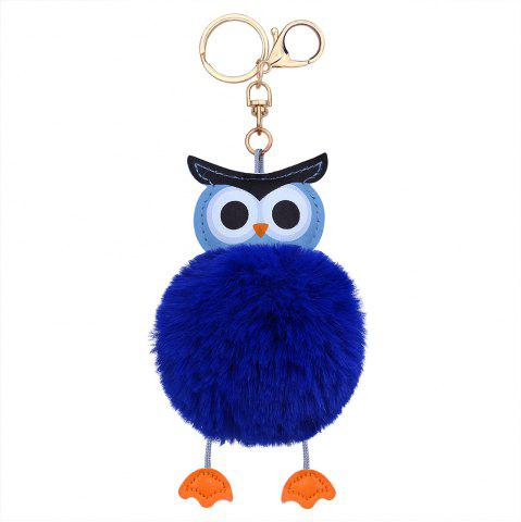 Outfits PU Leather Fuzzy Ball Cute Owl Keychain