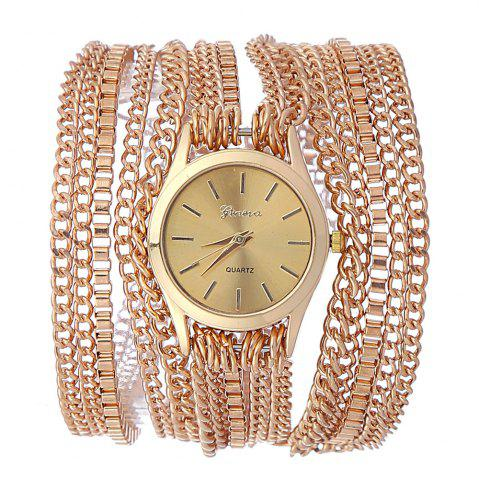 New Analog Quartz Metal Wrap Chain Wrist Watch