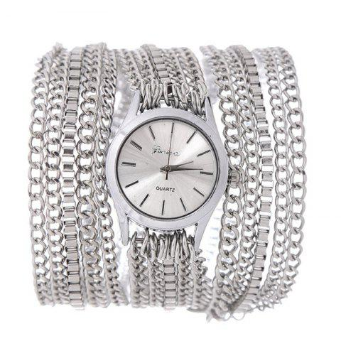 Trendy Analog Quartz Metal Wrap Chain Wrist Watch
