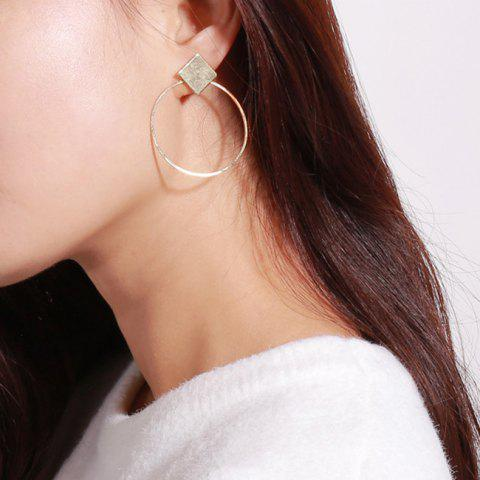Outfits Rhomb Round Hollow Out Drop Earrings