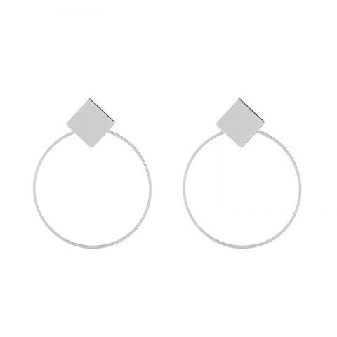 New Rhomb Round Hollow Out Drop Earrings