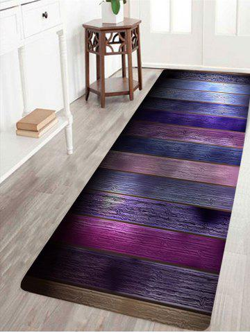New Colorful Wood Grain Printed Antiskid Area Rug