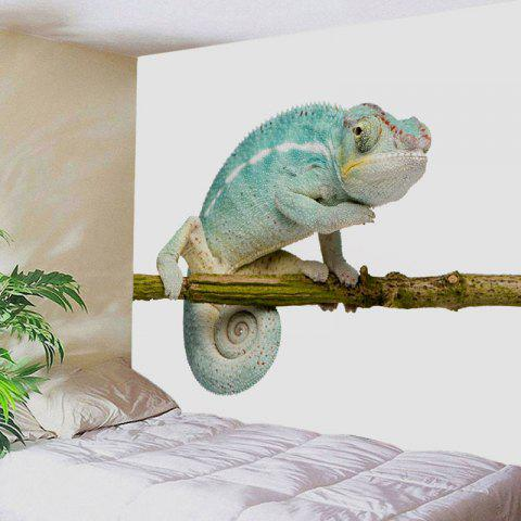 Latest Chameleon Stand on the Tree Printed Tapestry