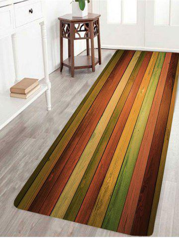 Outfits Vintage Colorful Laths Printed Skidproof Rug