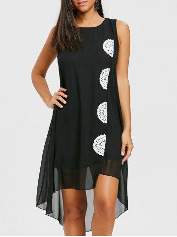 Sale Crochet Insert Swing Chiffon Dress
