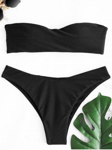 Shop Thong Bandeau Bikini Set