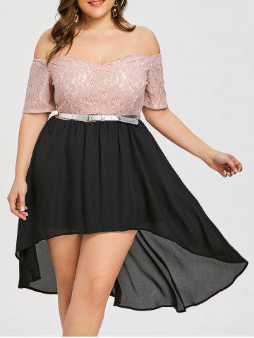 High Low Plus Size Evening Wear Dress