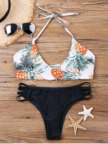 Outfits Pineapple Print Halter Multi-string Bikini