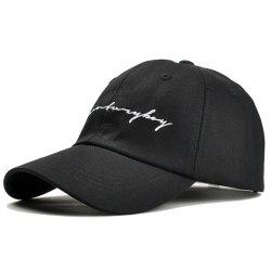Unique Letter Sentences Embroidery Adjustable Baseball Cap -