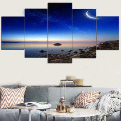 Starry Moonlight Scenery Print Canvas Paintings -
