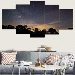 Starry Night Print Wall Art Canvas Paintings -