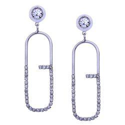 Geometric Artificial Diamond Inlay Stud Drop Earrings -