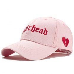Unique Broken Heart Embroidery Adjustable Baseball Cap -