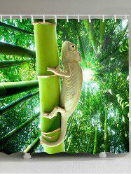 Lizard Climbing the Tree Patterned Shower Curtain -