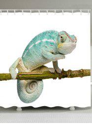 Chameleon Stand on the Tree Printed Shower Curtain -