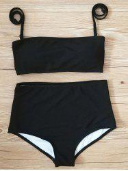 High Waisted Ribbed Bikini Set -
