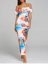 Imprimer Off The Shoulder Maxi Dress -