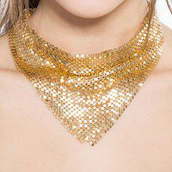 Paillettes Decorated Geometrical Choker Necklace -