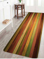 Vintage Colorful Laths Printed Skidproof Rug -