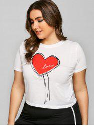 Heart Graphic Plus Size Valentine T-shirt -