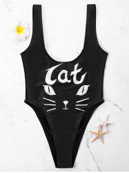 Cat Face One Piece - Maillot de bain coupe haute -